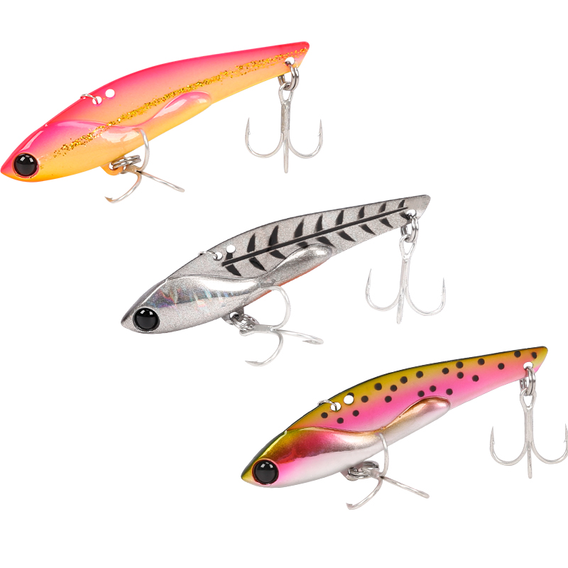 Trulinoya High Quality Metal Vib Lures Fishing VIB Lure 75mm 23g Sinking Artificial Vibrator Bass Bait free shipping trulinoya ray frog style soft plastic fishing lure bait green