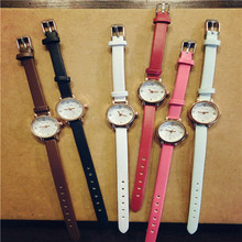 HL 2016  Simple Retro Small Girls Watch Dial Female Table Belt Casual Wave Gift relogio masculino OC28 5Down