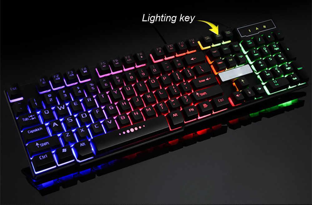 35 @ Bàn Phím Cơ Cảm Giác 104 Phím RGB Backlit Bàn Phím Máy Tính Game Thủ, Bàn Phím Cho Dota CS
