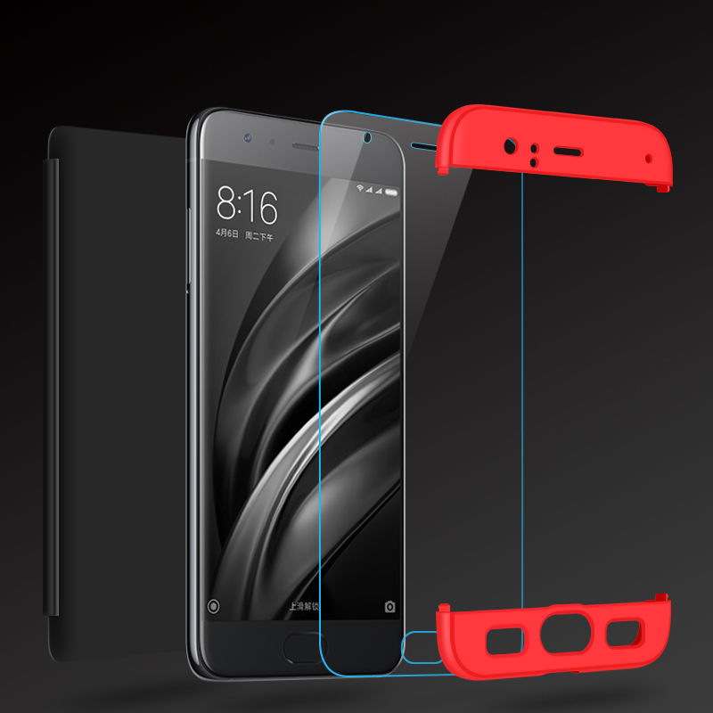 official photos 147cf 26a31 Luxury 3 IN 1 case For Xiaomi 6 mi6 Case Cover 360 Degree Full ...
