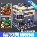 2016 Nueva LEPIN 15015 5003 unids City Creator El museo de dinosaurios Modelo Kits de Construcción de Juguete Ladrillo Compatible Juguetes de Regalo