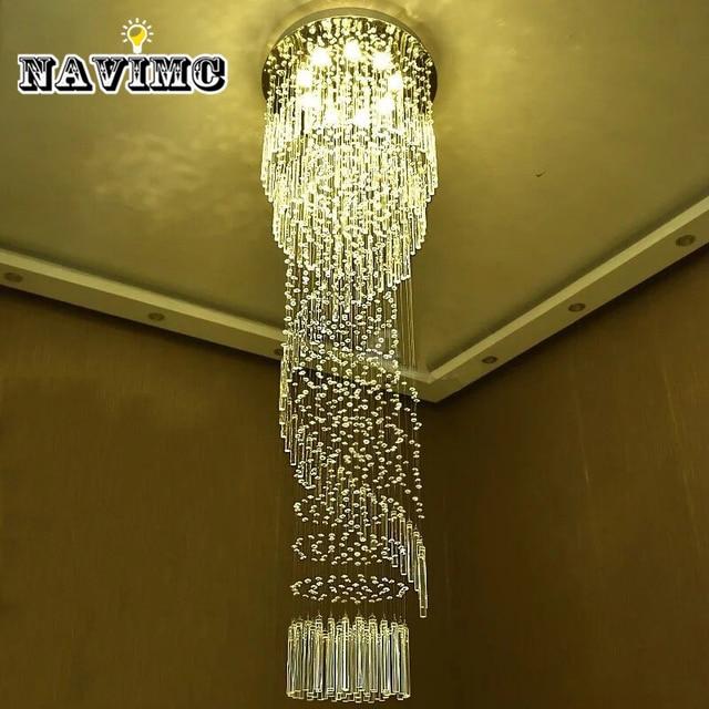 Moderne Große Kristall Kronleuchter Beleuchtung Für Hotel Flur