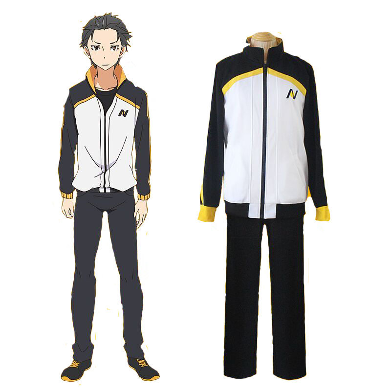 Sportswear Uniform Anime Re: Zero kara Hajimeru Isekai Seikatsu Subaru Natsuki Cosplay Costume Jacket Coat & Long Pants