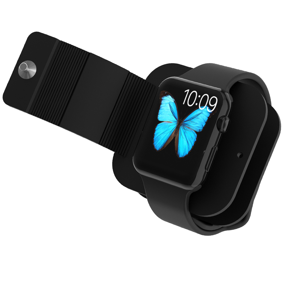 RAXFLY TPU Silicone Luxury Charger Holder For Apple Watch with Cable Hole Charging Dock Station Bracket For iWatch Stand Holder