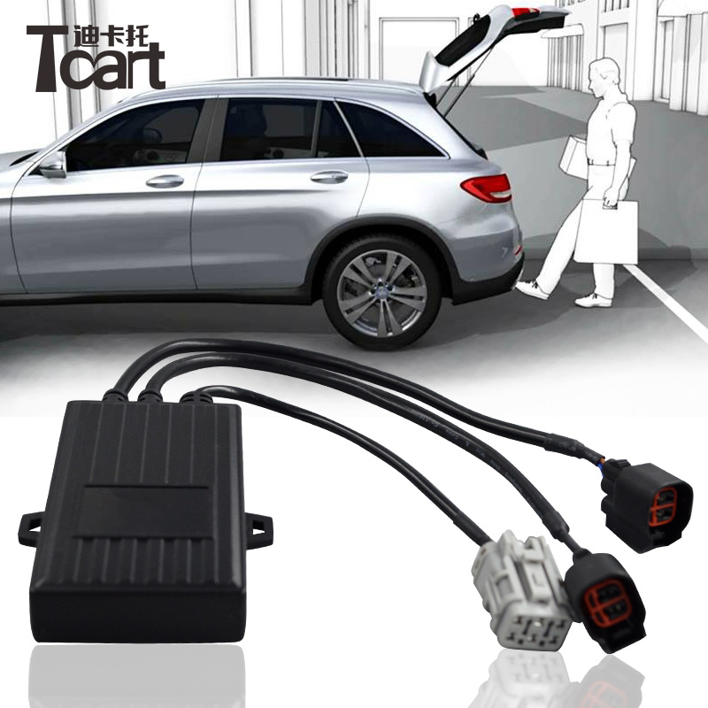 Tcart 1 Set Car PLC Induction Open Trunk System Lift Automatic Open Or Close Auto Intelligent Induction Tail Box Kick Tail Gate auto car trunk automatically opens kicking action control open close car trunk boot sensing auto smart opening sensor system