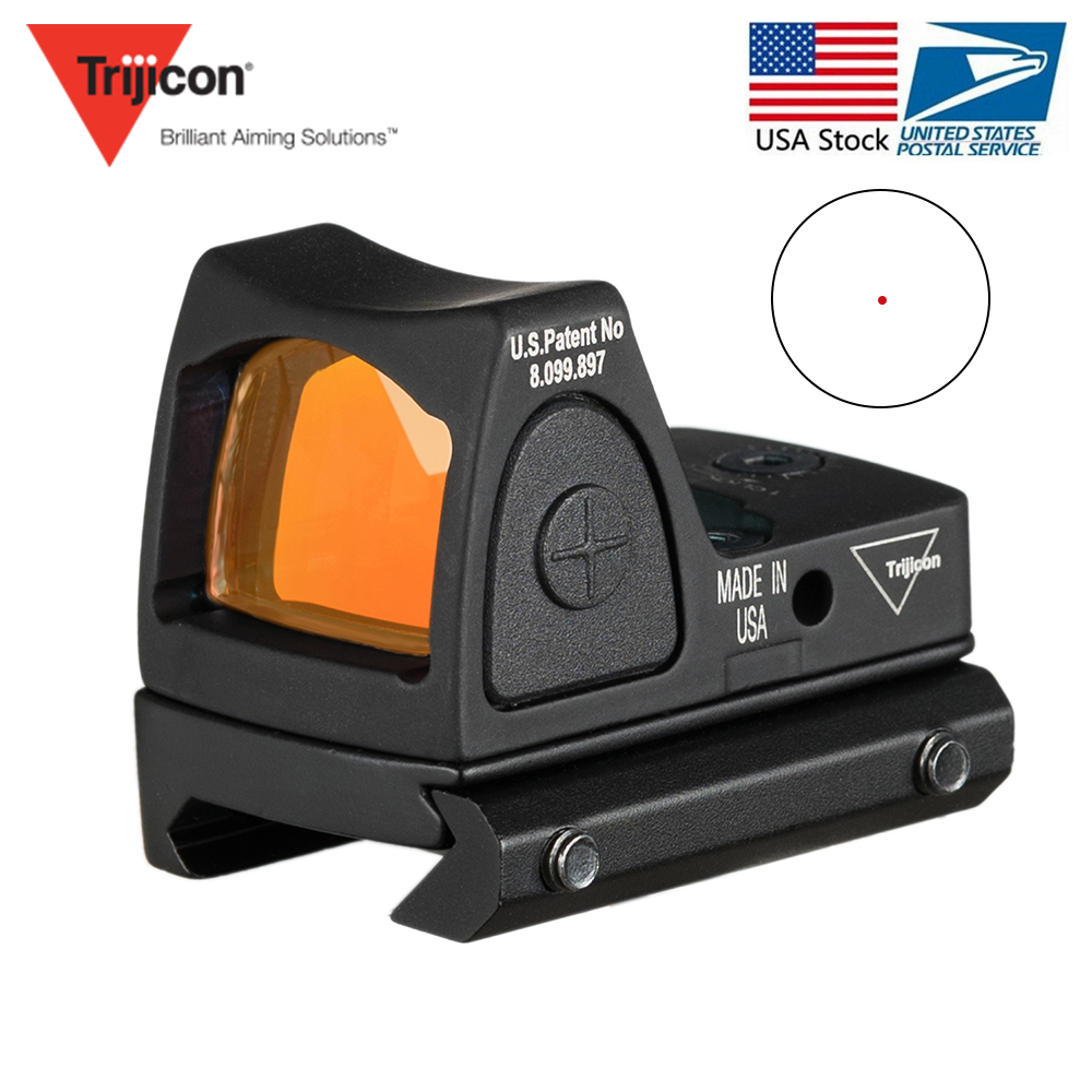 US Stock Trijicon RMR Red Dot Sight Collimator Glock Handgun Reflex Sight Scope fit 20mm Weaver Rail For Airsoft Hunting Rifle