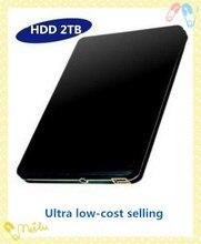 """El Nuevo 2016 de disco Duro 2 TB hdd 2.5 """"2.0 discos duros Externos USB Portable Hard Drive HDD Negro gigante de 3 Años franqueo Exento(China (Mainland))"""