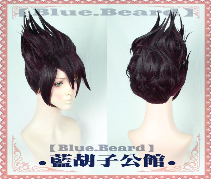 New Danganronpa Momota Kaito Cosplay Wig Dark Purple Halloween