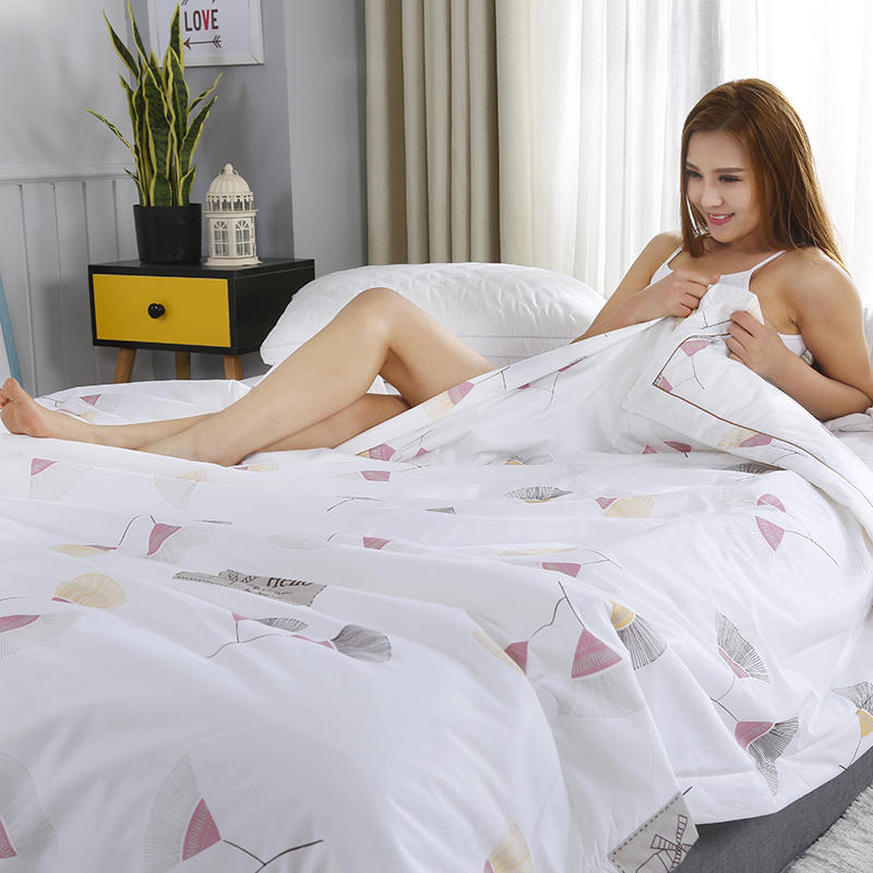 100 Cotton Summer Air Conditioner Cool Thin Quilt Comfortable Brief Printing Home Textile Bedding Comforters Duvets