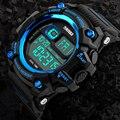 Nuevo 2017 digital led de los hombres relojes multifunción cronómetro reloj deportivo al aire libre los hombres 50 m agua choque resistir relojes skmei
