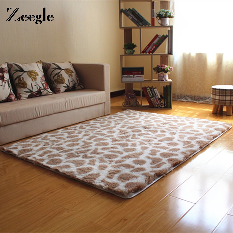 Zeegle Plush Soft Shaggy Carpet For Living Room Kids Bedroom Rugs Bedside Mats Thick Warm Decoration Floor Mats Home Decoration