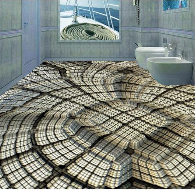Mode ideeën 3d foto behang 3d vloeren Vierkante pit behang ...