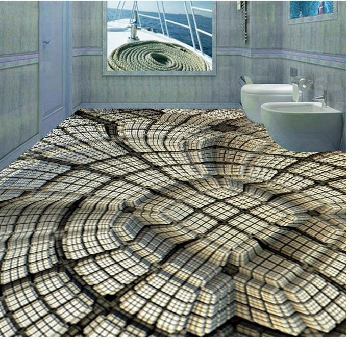 US $25.19 55% OFF|Mode ideen 3d fototapete 3d bodenbelag Platz pit tapete  selbstklebende 3d boden fliesen schlafzimmer tapete-in Tapeten aus ...