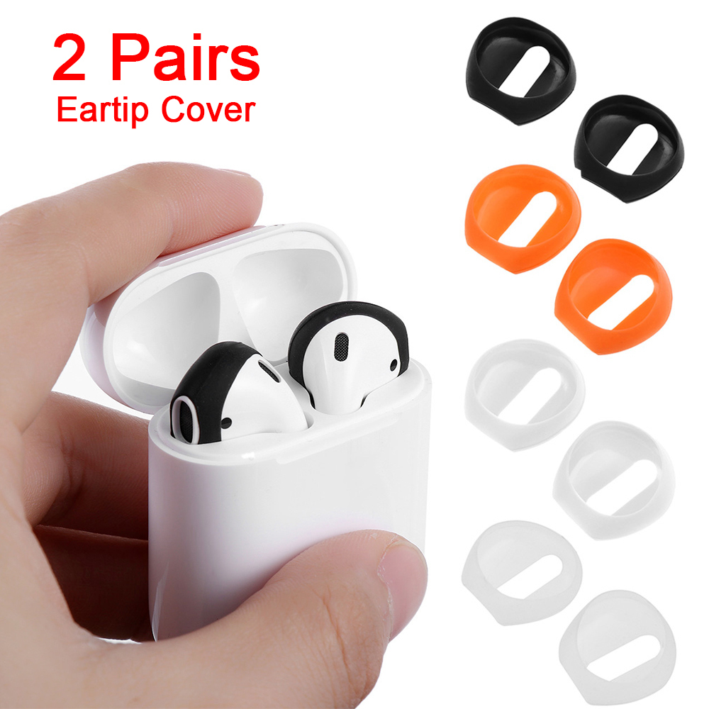 2019 New Stylish Silicone Earphone Case Cover Color 2 Pairs Soft Ultra Thin Earphone Tips Anti Slip Earbud For Apple AirPods