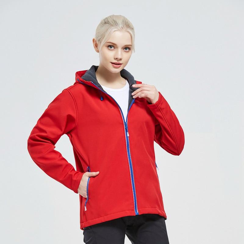 Veste souple femmes manteau extérieur coupe-vent Ski manteau fermeture éclair réfléchissante randonnée pluie Camping pêche vêtements Sport veste hommes manteau