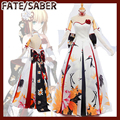 NEW!!!Anime Fate Grand Order FGO Saber Kimono Wedding Dress cosplay costume full set in reserving stock 2017