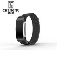 ステンレス鋼腕時計ストラップ用fitbit充電2 milanese 18ミリメートル時計バンドブレスレット男性メッシュストラップウォッチ女