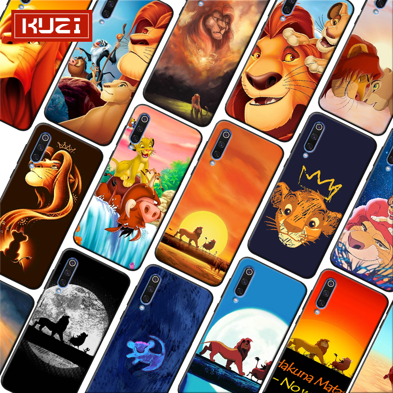 The Lion King Simba Animal Cute Cartoon Soft Silicone Phone Case for xiaomi mi 9 9t se mi 8 pocophone f1 mix 3 in Half wrapped Cases from Cellphones Telecommunications