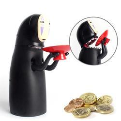 Electronic Faceless Man Money Box Ghost Figure Coin Cartoon No-face Piggy Bank Funny Faceless Man Ghost Figure Saving Box #11030