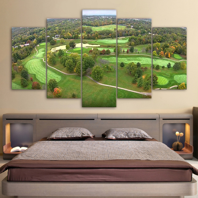 HD Printed Painting Canvas Print Large Poster Home Decor 5 Panel