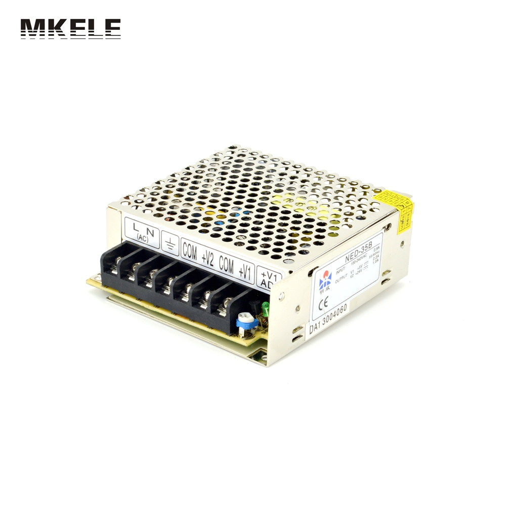 High Quality Double Voltage 100-240Vac Input ,5V/12VDC 2 Port Output Power Supply , 32W Driver CE UL NED-35A China genuine leadshine acs606 dc input brushless servo drive with 18 to 60 vdc input voltage and 6a continuous 18a current