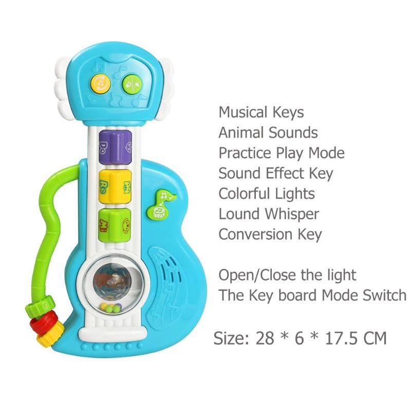 US $9 07 22% OFF|2019 Animal Sounds Baby Electronic Guitar Toys Baby Kids  Cute Electronic Guitar Rhyme Developmental Music Sound Child Toy-in Toy