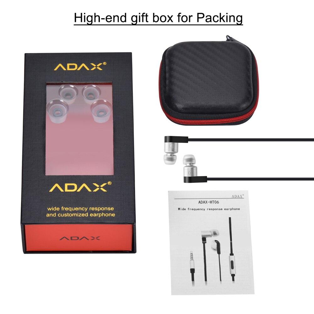 Nouvelle Arrivée HT06 3.5mm In-Ear Large Réponse En fréquence Écouteurs Dynamique HiFi écouteur écouteur Écouteurs En Métal avec Microphone