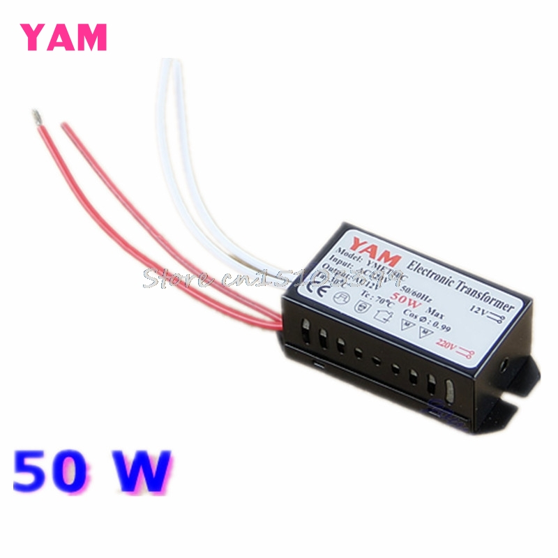 50W 220V Halogen Light LED Driver Power Supply Converter Electronic Transformer Drop shipping Y122