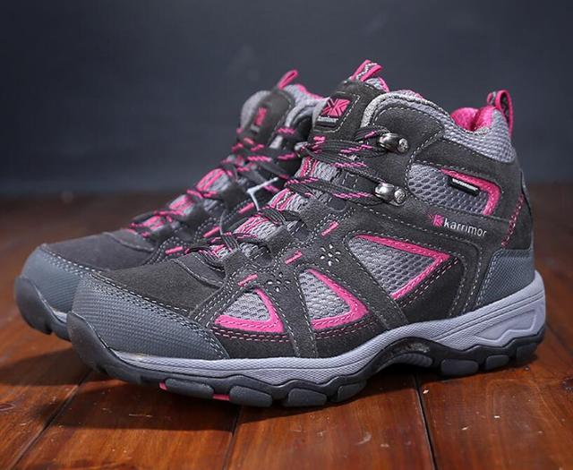 5008c7915e89 Women outdoor walking shoes Karrimor breathable waterproof genuine leather  walking shoes ladies sports shoes women sneakers