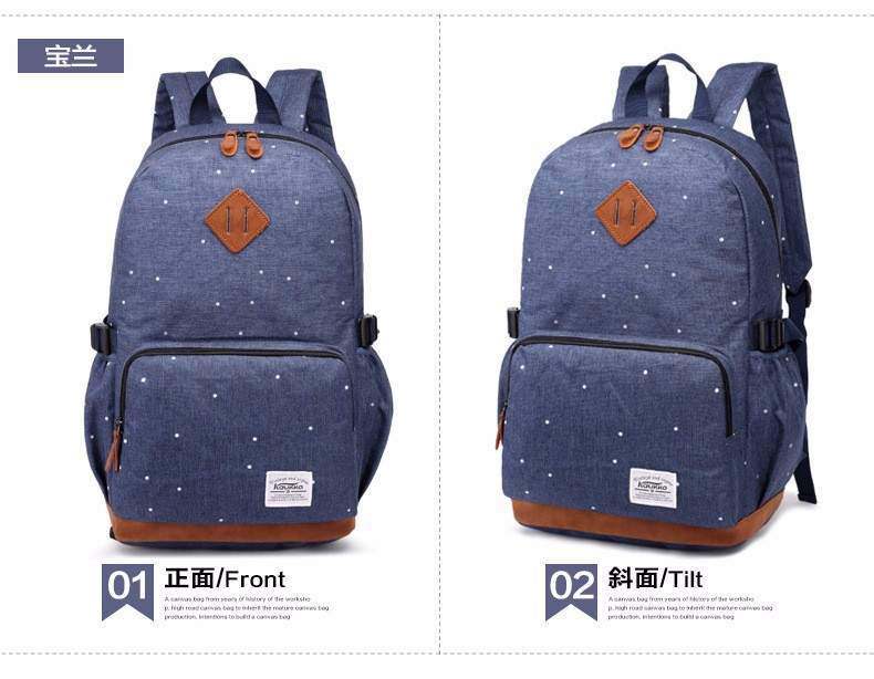 495f3f5ceb Korean Oxford Dot Printing Student School Bags Teenage Girls Casual Satchel  Dotted Campus Backpack Rucksack Laptop Bag Back Pack. 1 2 3 4 5 6 ...
