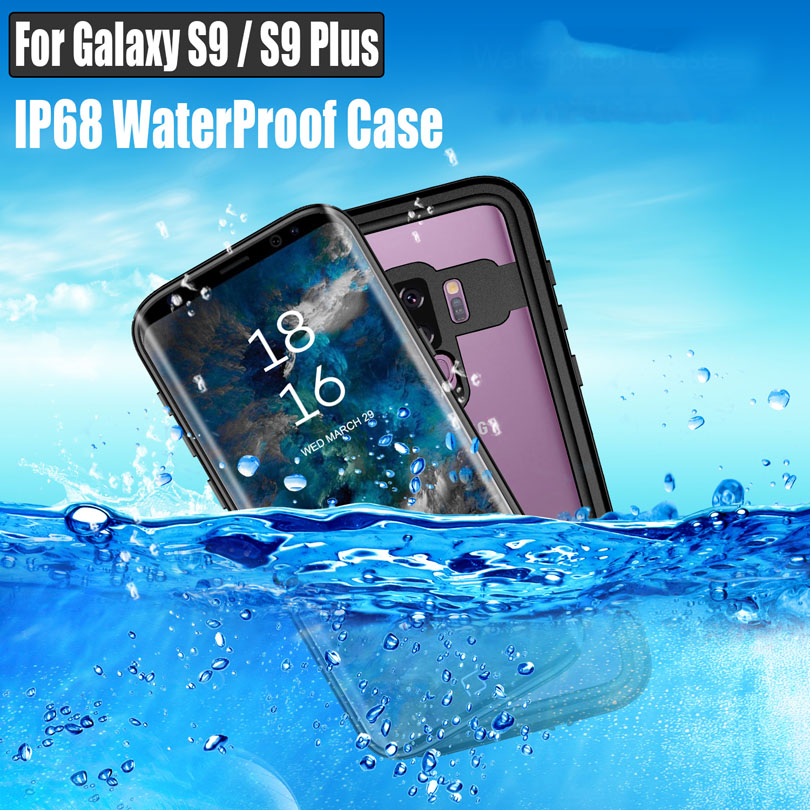 For Samsung Galaxy S10 Plus S9 Plus Note 8 9 Waterproof Case Dot Series IP68 Diving Underwater PC + TPU Armor Cover S901