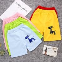 2017 детская одежда из хлопка для маленьких девочек короткие жаркое лето шаровары для мальчиков Пляжные штаны для маленьких девочек мультфил...