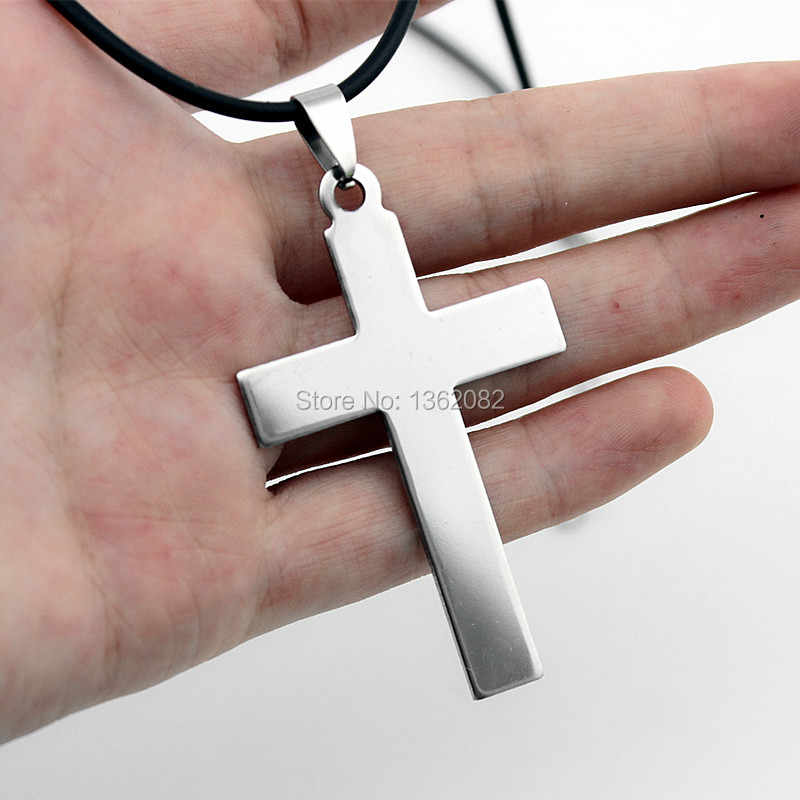 Fashion Stainless Steel CROSS pendant necklace for men women's jewelry gift mn590