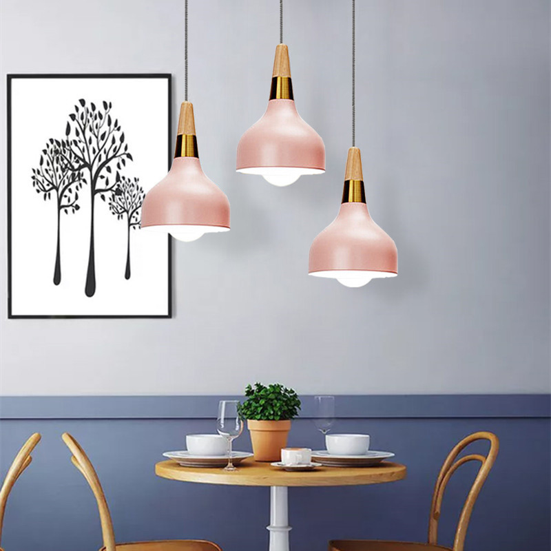 Pink Pendant Light For Kitchen Island Metal Lighting
