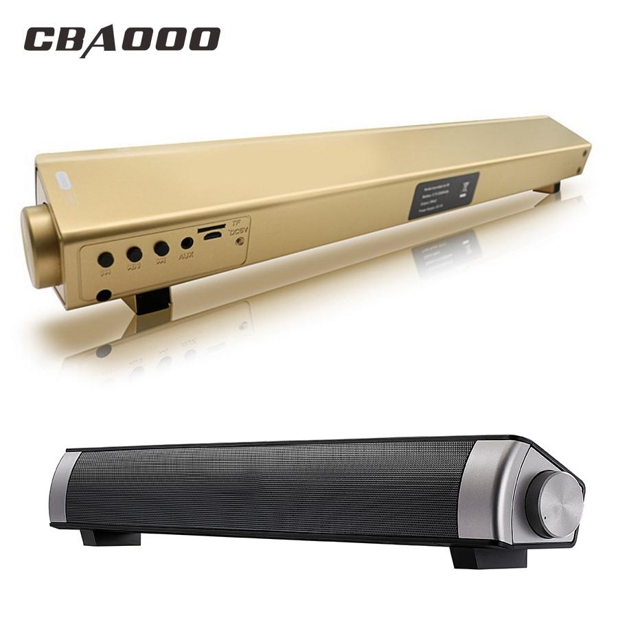 CBAOOO S08 ordenador Altavoz Bluetooth 12 W altavoz inalámbrico amplificador HIFI 3D estéreo barra de sonido con USB Mic TV teléfono de ouvido