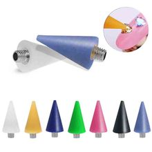 1pc Replaceable Nail Dotting Wax Pencil Head Beads Rhinestones Gems Picker Self-adhesive Tips Picking Tool For Pen