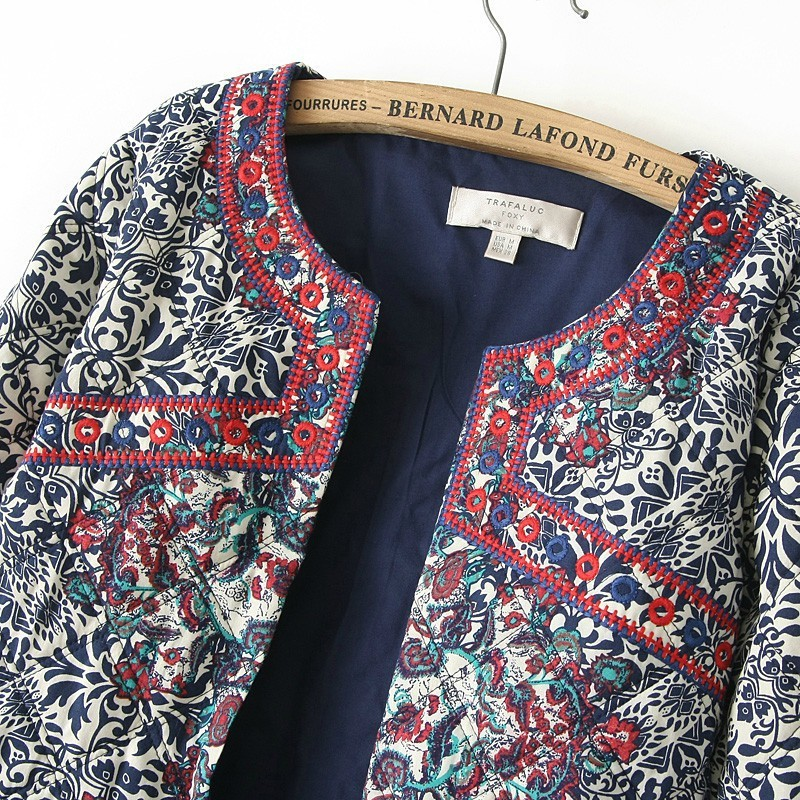 Women Spring Basic Ladies Embroidery Ethnic Jacket Women Clothes 2016  Floral Jackets Linen Kimono Cardigan Jacket for Women-in Basic Jackets from  Women's ...