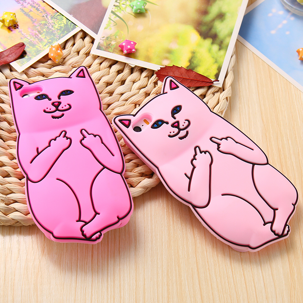 Lovely Silicone Cat Case For Iphone 6 6S Plus 6 7 Plus 5S SE Coque Cartoon