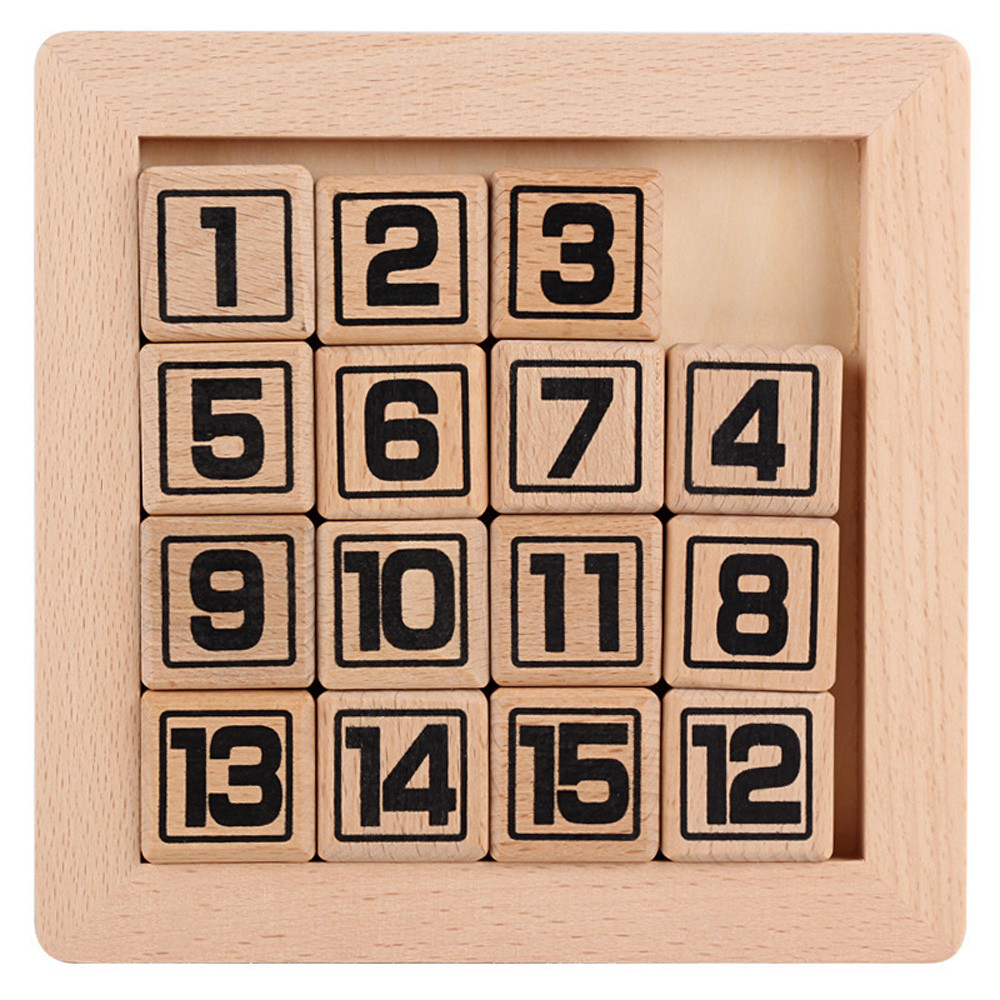 15 Number Puzzle slide Game Jigsaw Random color Toy kid Toy Play Gift Game Learning Numbers Matching Game Early Educational RE4