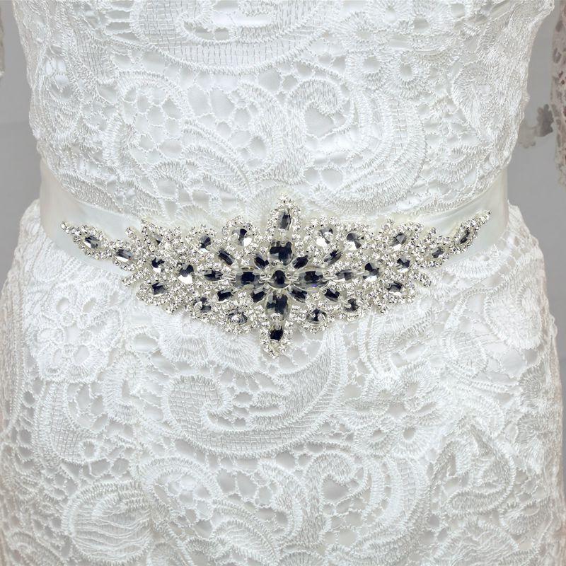 Rhinestones Bridal Sash Wedding Dress Sash Crystals Bridal Sash