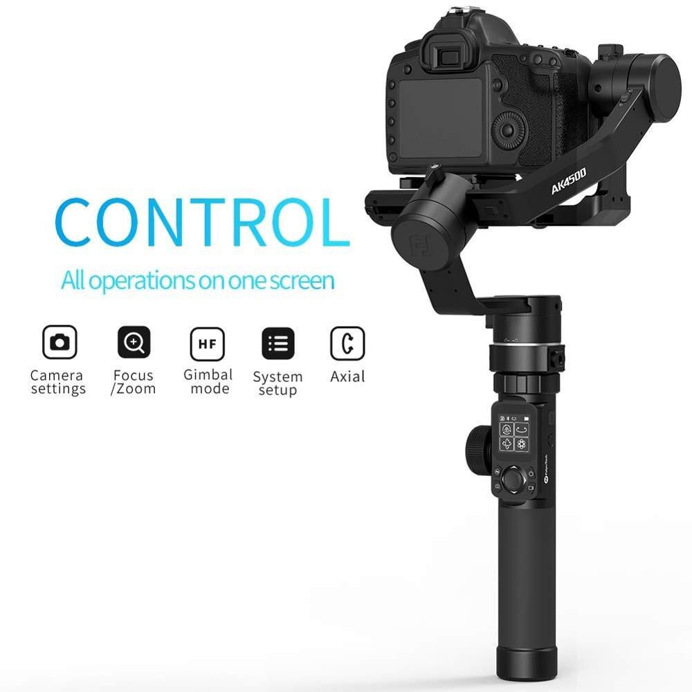 Image 3 - FeiyuTech AK4500 Camera Stailizer 3 Axis Handheld Gimbal for Sony/Canon/Panasonic/Nikon,Payload 10.14lbHandheld Gimbal   -
