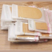 100PCSMutli size jewerly card matching opp bagTransparent Self Adhesive Seal Plastic Storage Bag OPP Poly Pack with hanger