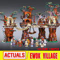 1990pcs Lepin 05047 Star Wars Ewok Village Educational Building Blocks Juguete para Construir Bricks Toys Compatible with 10251