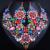 Requintado flor de cristal colar de declaração e brincos grandes para mulheres beads Africanos conjuntos de jóias de noiva