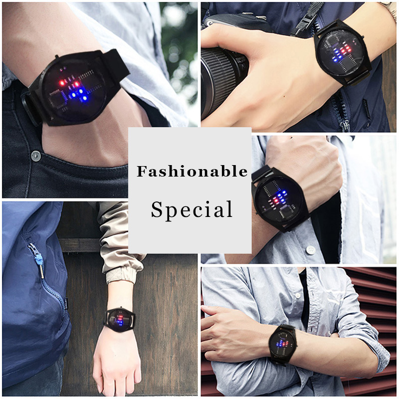 Binary Watch with LED display 3