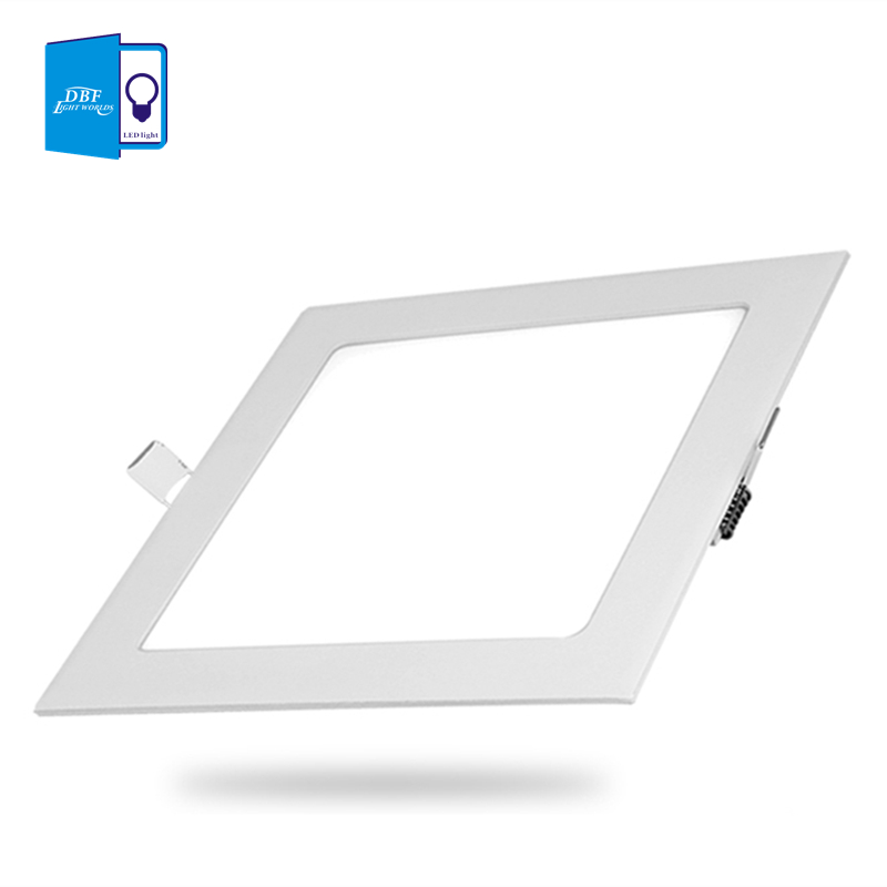 [DBF] Ultra Thin Design 3W 4W 6W 9W 12W 15W LED Yta Tak Inbyggt Grid Downlight + Square Panel Light