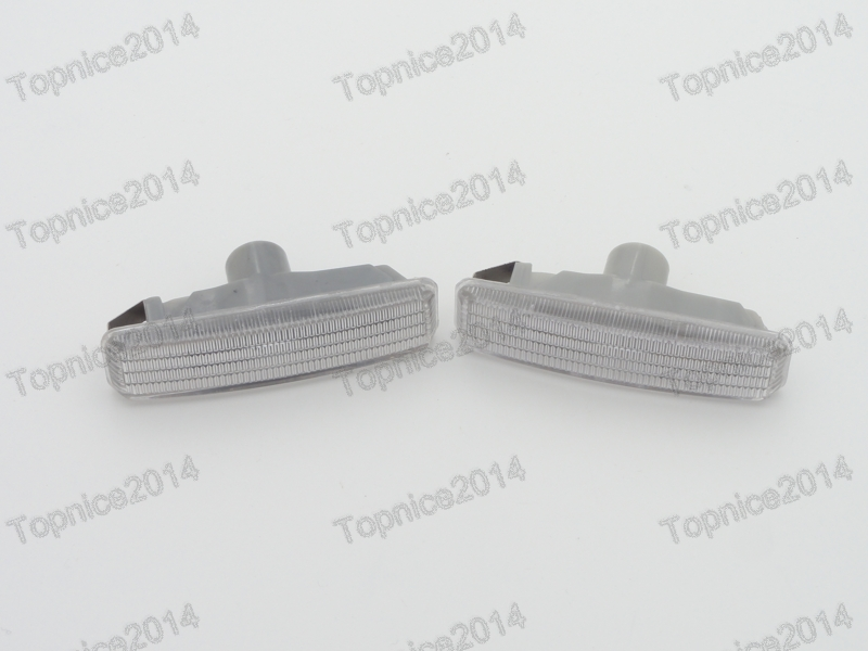 ФОТО 2Pcs Clear Lens Side Marker Lamps Turn Signal Lights For BMW 5-Series E39 2001-2003