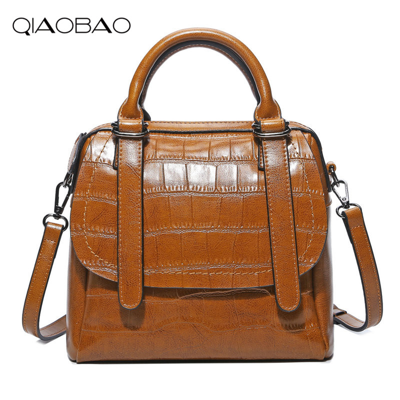 QIAOBAO Brand 100% Genuine Leather Bag Messenger Bag Famous Cowhide Handbag Cowskin Bag Lady Crossbody bag набор батареек duracell basic lr03 18bl