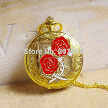 Attack on Titan Golden Pocket Watch quartz 1pcs/lot Necklace pendant