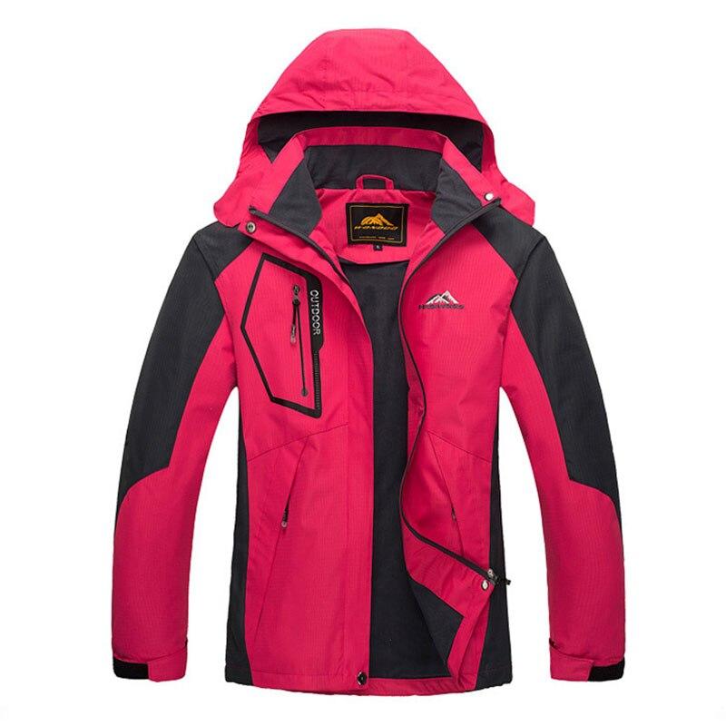 ФОТО Men Women Outdoor Jackets climbing camping fishing hiking cycling jacket waterproof windproof warm coat lovers K0066